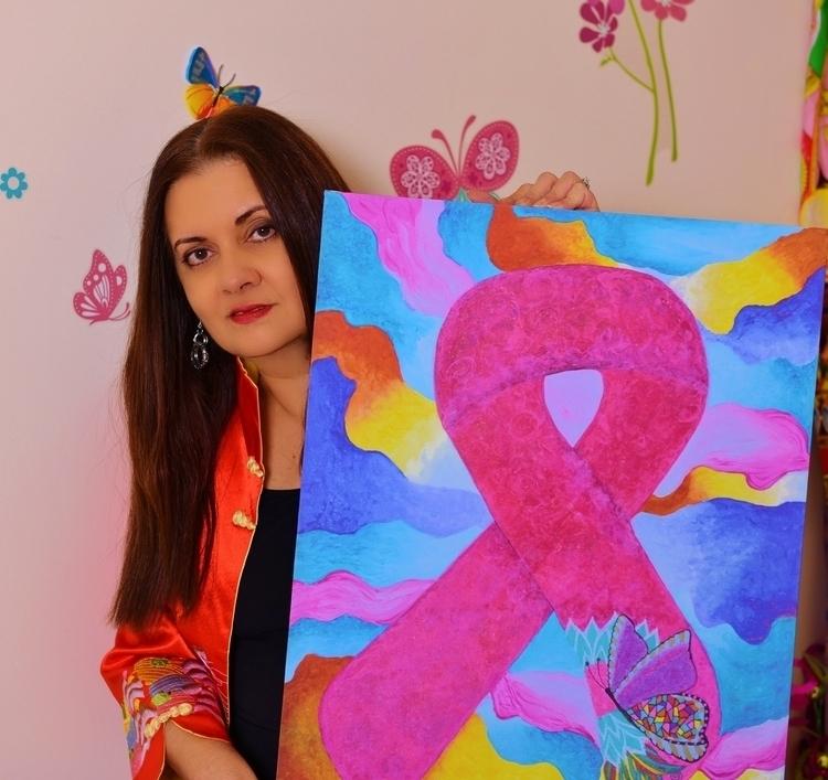 Hope Glory Breast Cancer Ribbon - mariposa101 | ello