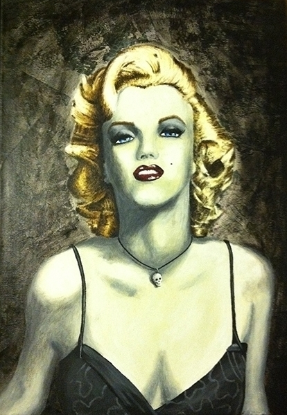 Marilyn- acrylic paint canvas - painting - mallorycogut | ello