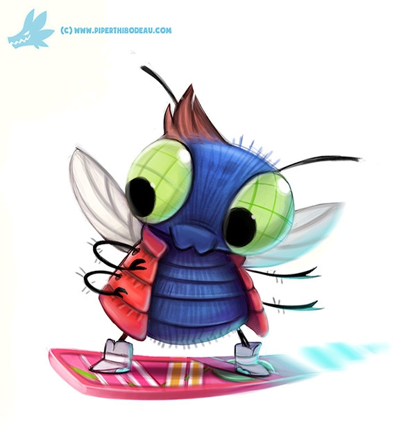 Daily Paint Marty McFly - 1065. - piperthibodeau | ello
