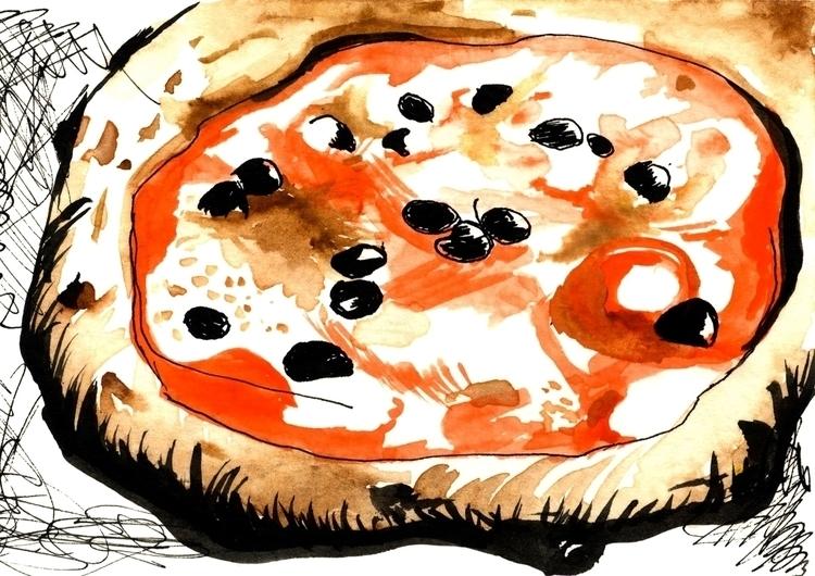 Pizza 1 - illustration, foodillustration - reebek   ello