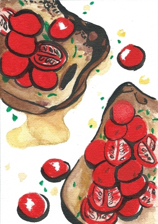 Cherry Tomatoes Bread - illustration - reebek | ello