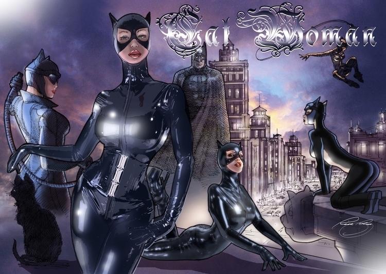 Cat Woman - illustration, characterdesign - rpoling | ello