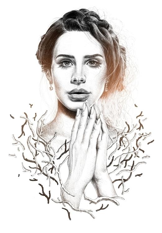 lanadelrey, portrait, woman, beauty - lucidkate | ello