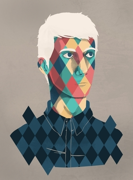 Inversion - portrait, boy, shapes - renonogaj | ello