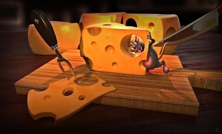 cheese! Funny 3D illustration  - tomjestic | ello