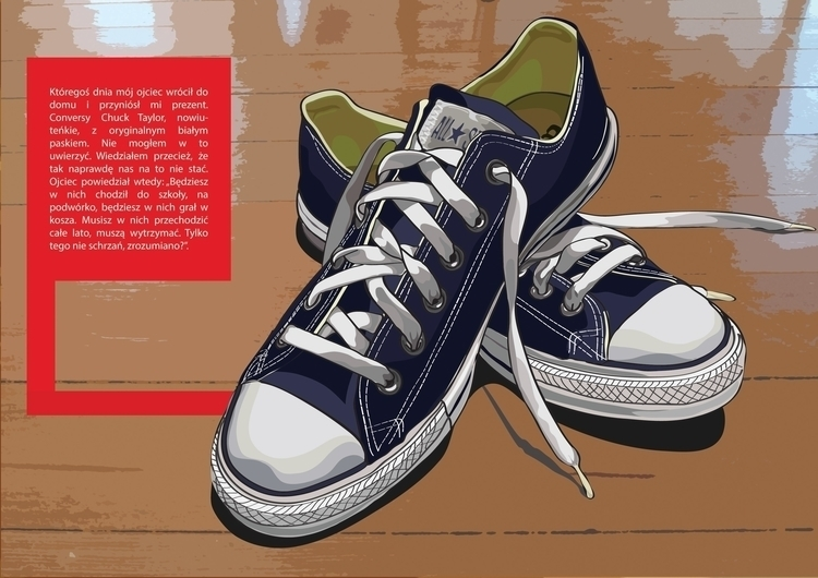 Converse shoes illustration - drawing - k_tomaszewski | ello