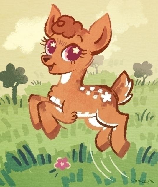 Deer - mylittlepony, fanart, deer - janiceliu | ello