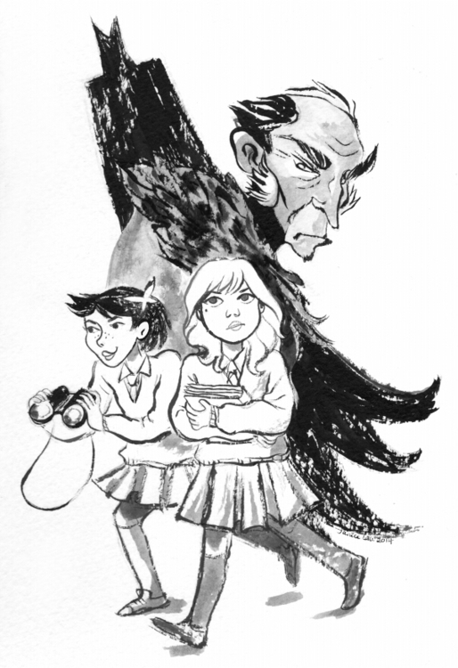 Inks Gotham Academy illustratio - janiceliu | ello
