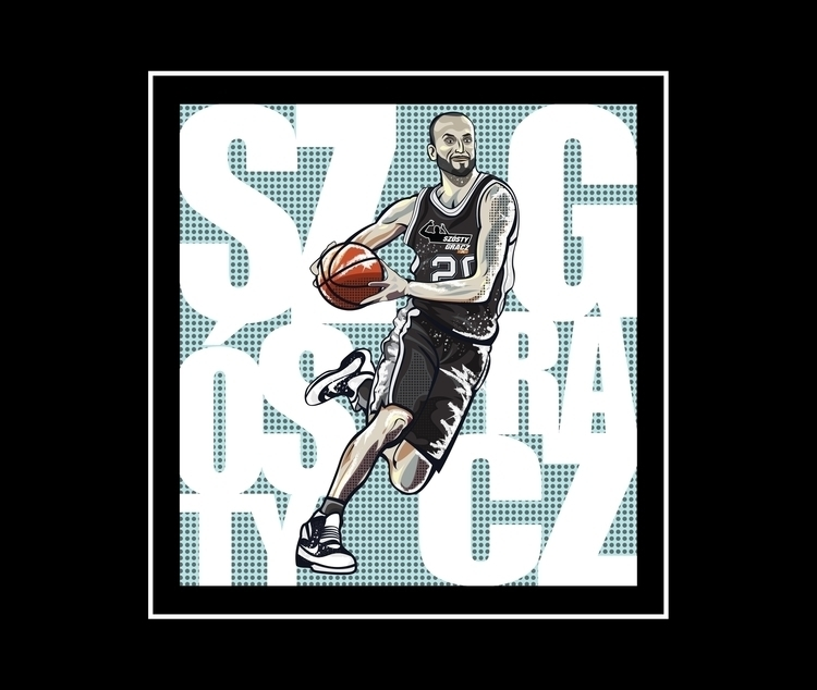 print illustration polish NBA w - k_tomaszewski | ello