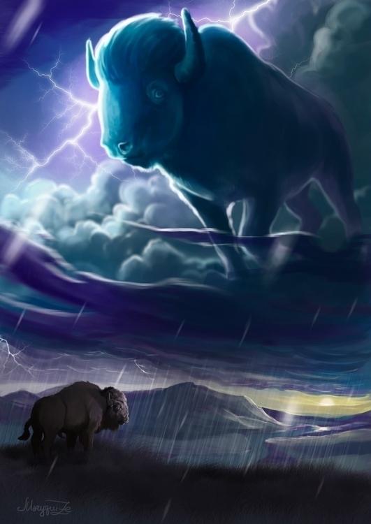 spirit thunderstorms - illustration - maryquize | ello