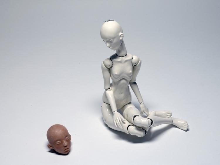 doll, ceramic - 2aqua   ello