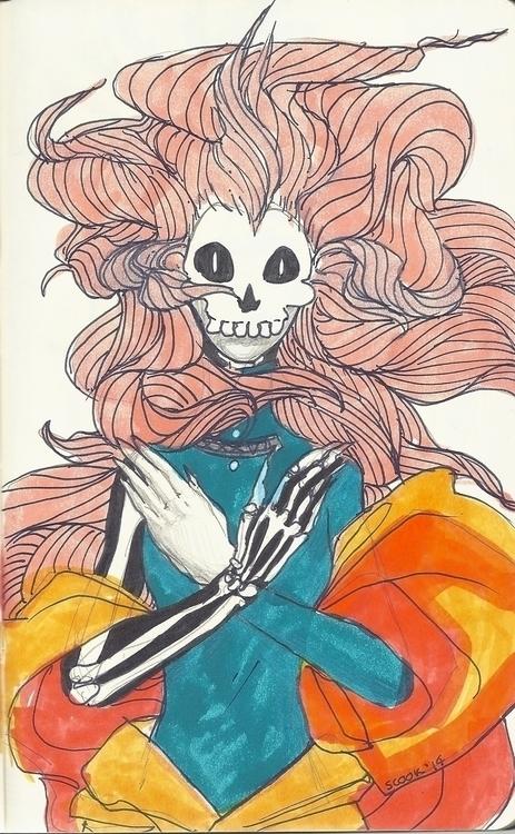 doodle - doodles, skeleton, bones - scookart   ello