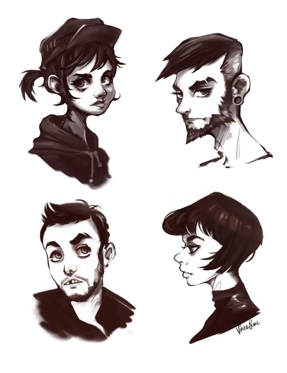 Character Design Practice - characterdesign - vinceruz | ello