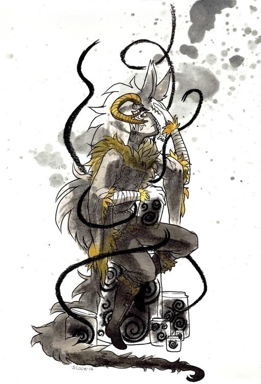 Inktober - 31, inktober, illustration - scookart | ello