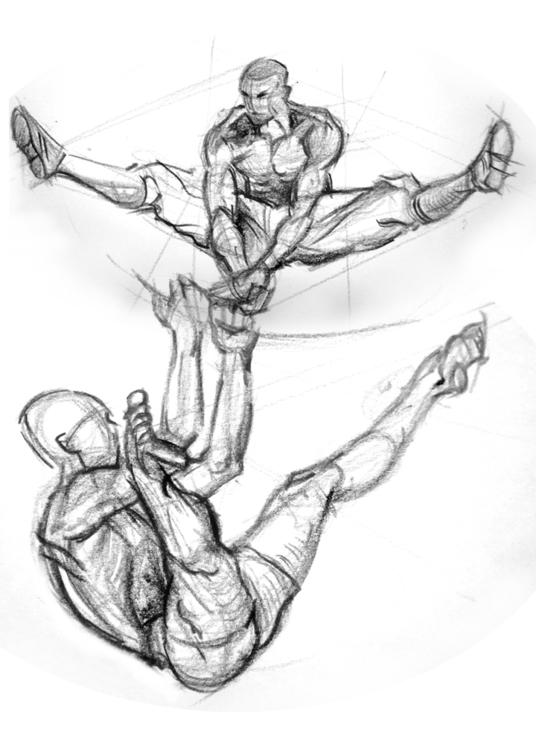 Daily gesture drawing. Poses - DavidKelmer - dkelmer | ello