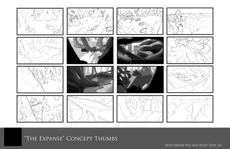 Expanse - Concept Thumbs Enviro - ninjalemon | ello