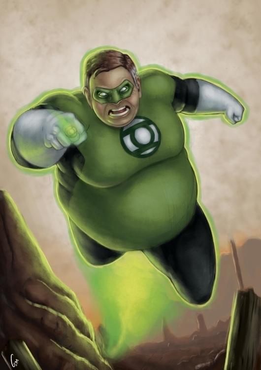 greenlantern, fanart, comics - cemok | ello