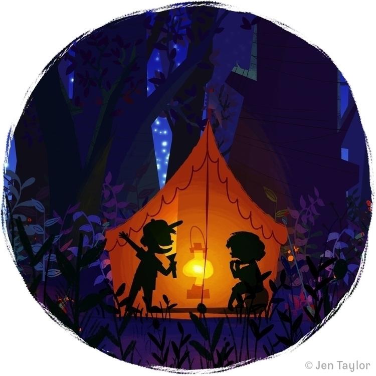 Camping Jen Taylor - illustration - jentaylordraws | ello