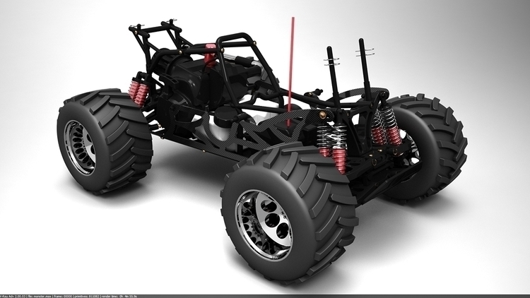 RC Monster Truck Product Visual - dolfiedekock | ello