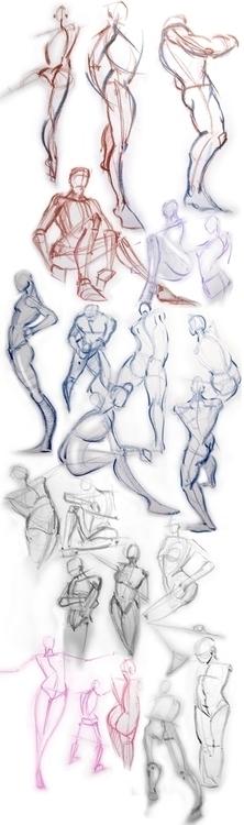 Daily gesture drawing - davidkelmer - dkelmer | ello