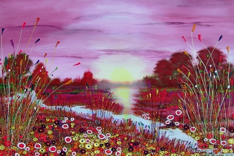 Aubade summer. 120 80 cm - painting - ansduin | ello
