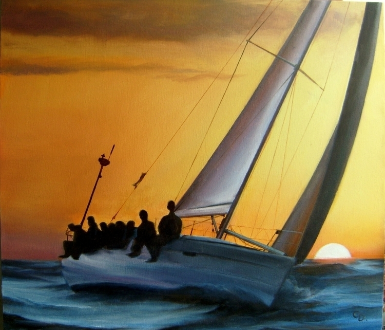 Sea race, oils canvas, size - 5 - kamen-1347 | ello