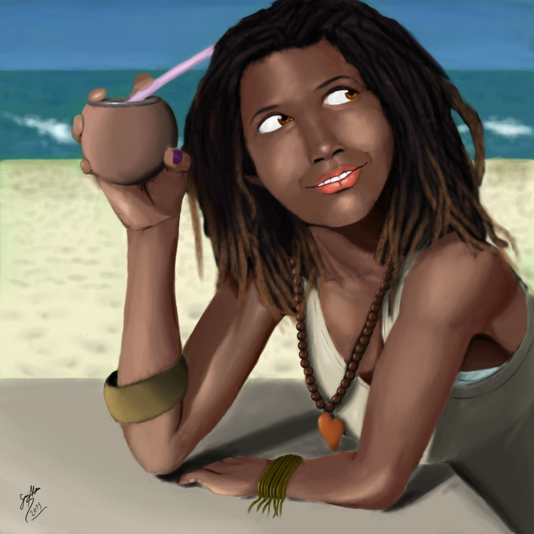 Beach Coconut - illustration, painting - gui_moura | ello