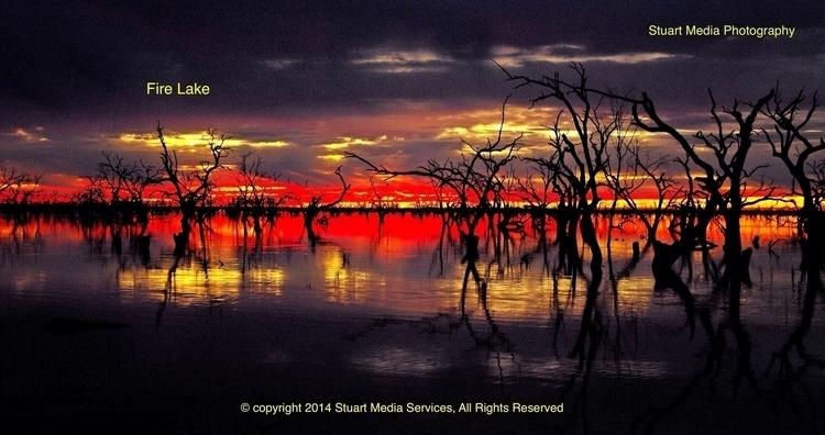 Fire Lake - sunset, australia, digital - stuartmedia | ello
