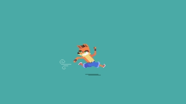 Day 40/365  - CrashBandicoot - planckpixels | ello