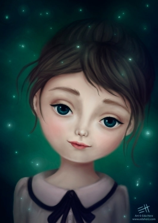 Smile - illustration, painting, digitalart - edaherz | ello
