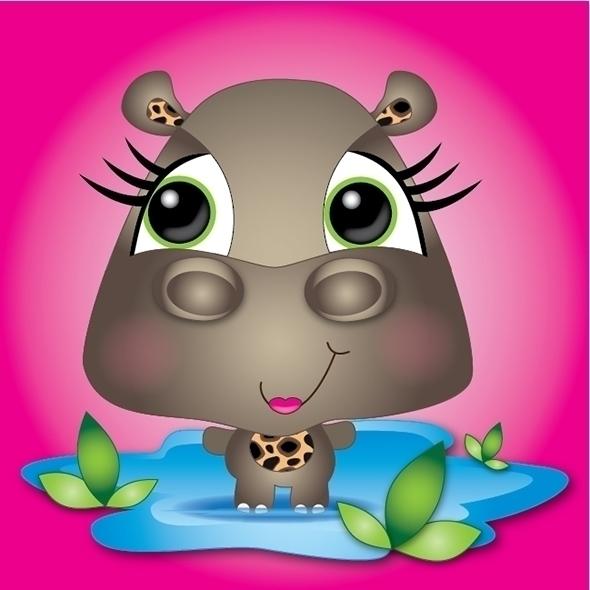 Hangin - kathyvoergart, hippo, hippopotamus - kvoerg | ello