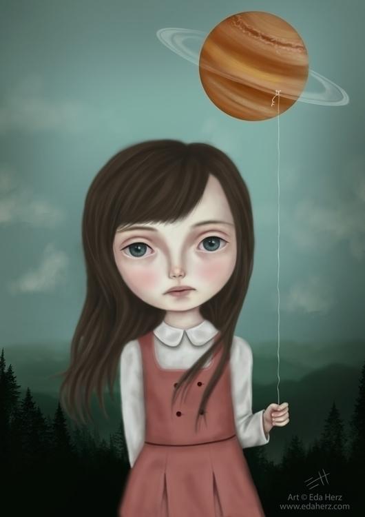 Sixth Planet - illustration, painting - edaherz | ello
