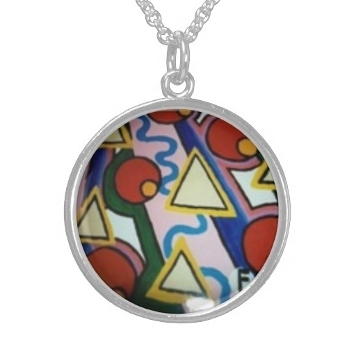 Modern art pendant, necklace - painting - farrellhamann | ello
