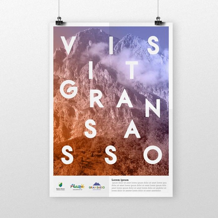 GRAN SASSO poster, identity coi - maestroambrosiano | ello