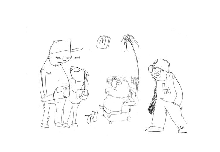 'venice - LA, draw, drawing, HAWKIE - hawkie | ello