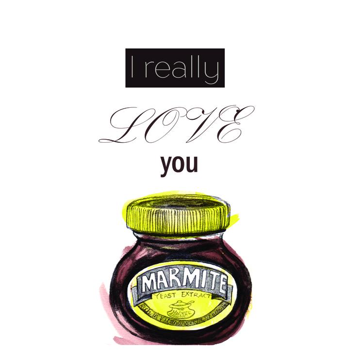 Love Marmite - marmite, food, love - toraillustrates | ello
