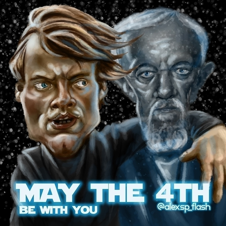 Luke Ben destroying Empire - starwars - alexsp_flash | ello