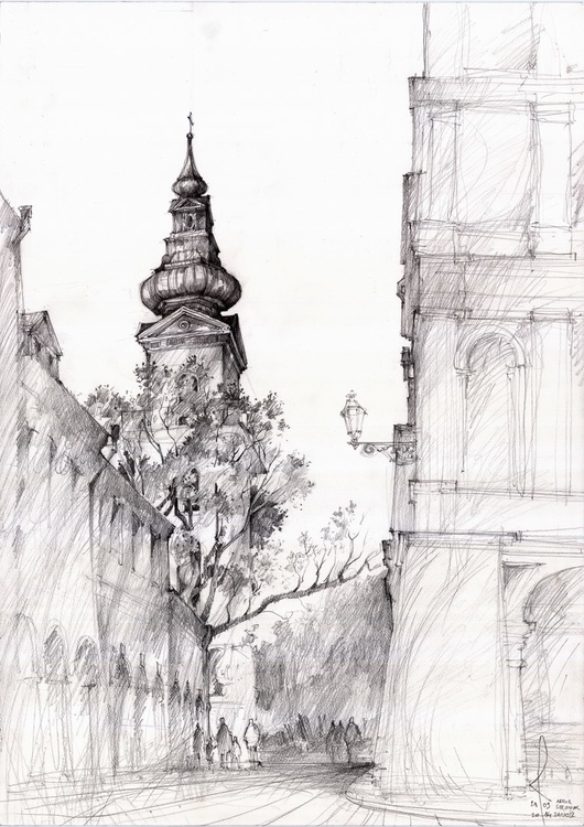 Poland, Zamosc, travel sketch - poland - crewthere | ello