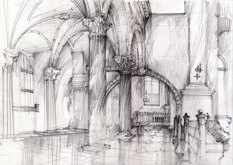 Poland, Zamosc, travel sketch - architecturaldrawing - crewthere | ello