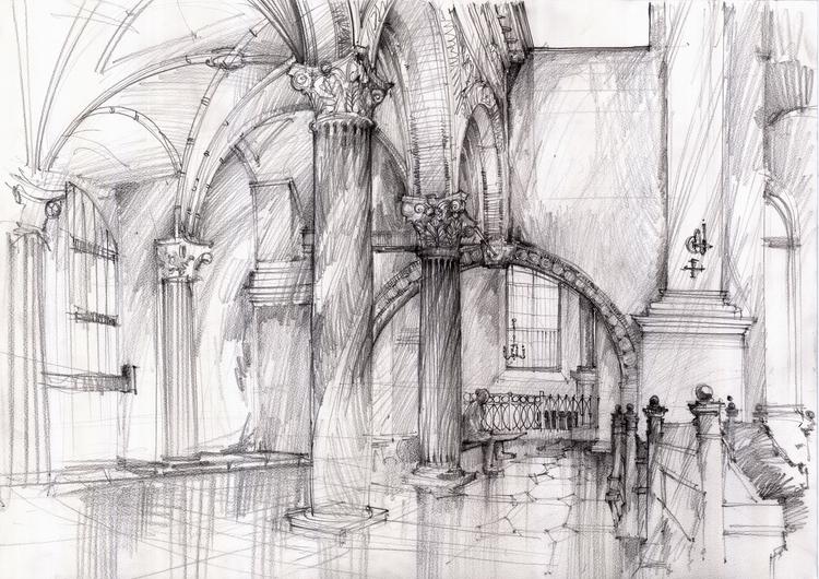 Poland, Zamosc, travel sketch - architecturaldrawing - crewthere | ello