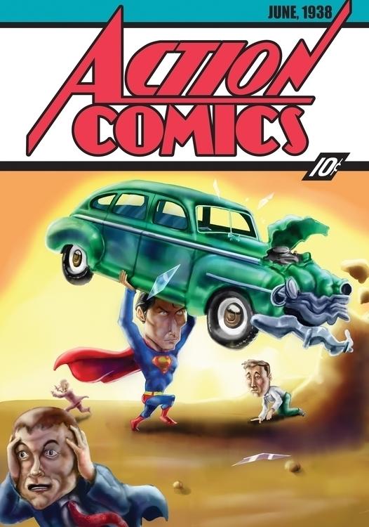 version Superman cover Christop - alexsp_flash | ello