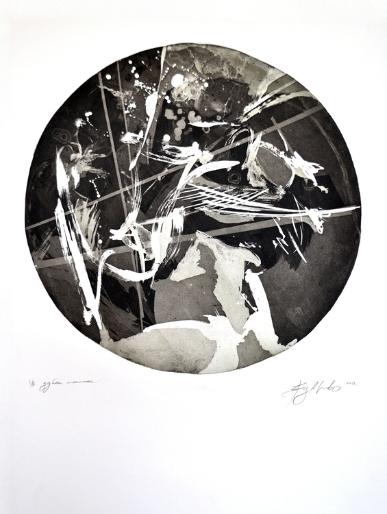 etching, aquatint, circle, traditionalart - voyanik | ello