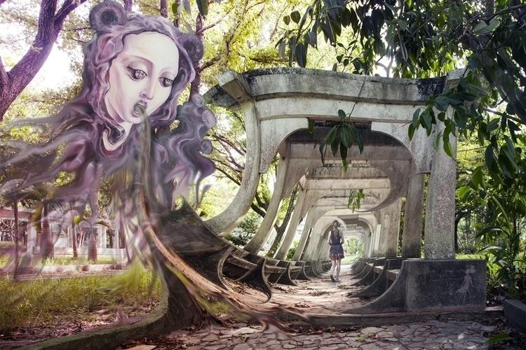 Event horizon - painting, surreal - oksin | ello