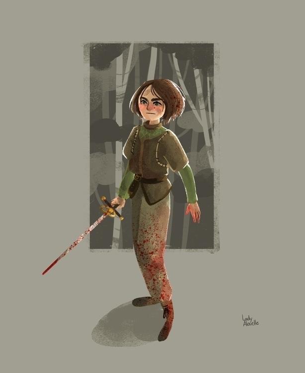 Arya Stark - aryastark, gameofthrones - ladyalouette | ello