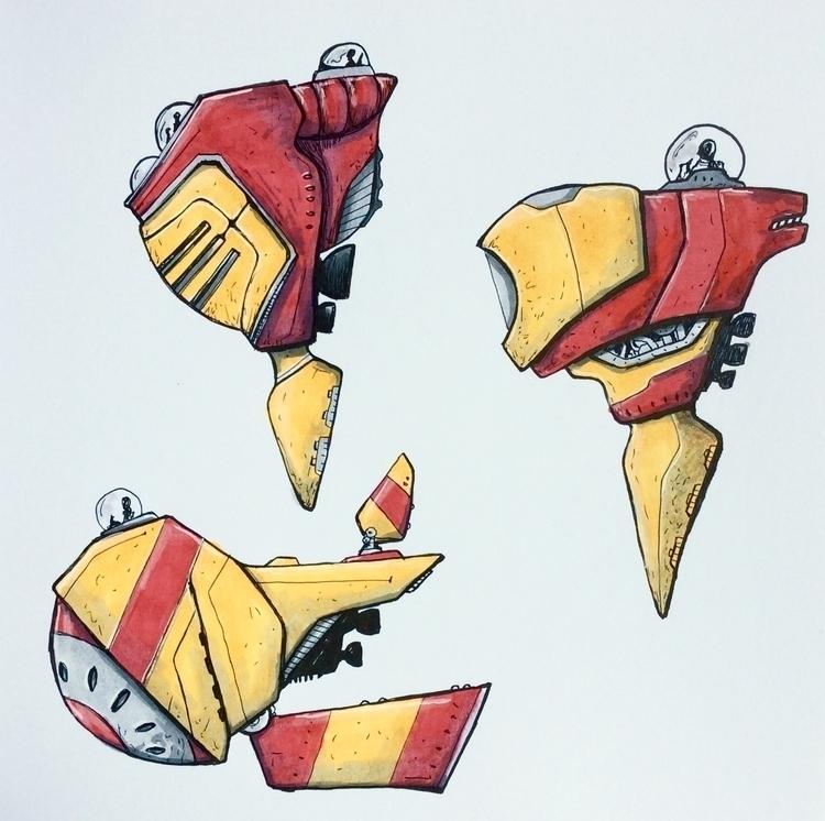 spaceship, space - bas-1355 | ello