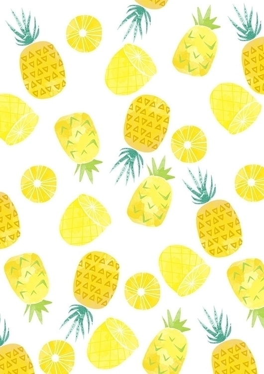 Nanas aka Pineapple - illustration - shazanarosli | ello