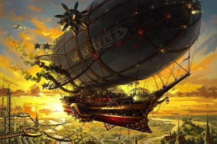 Protagonist - illustration, steampunk - artkol | ello