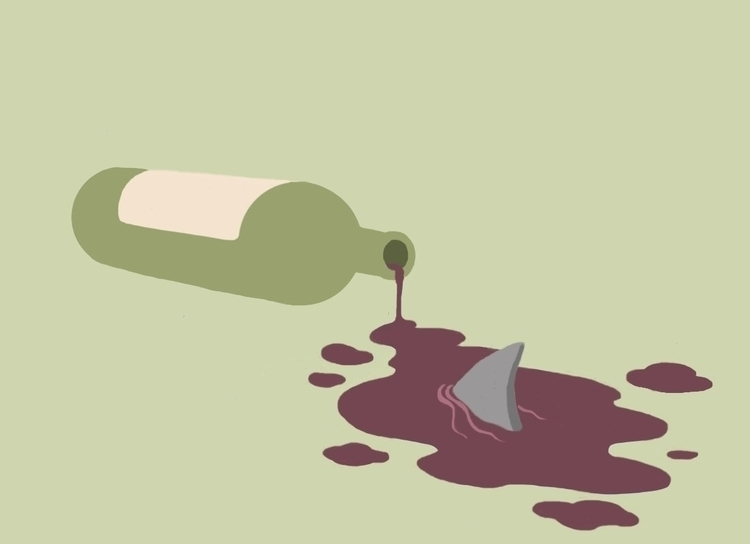 Bottle shark - wine - dorianostrologo | ello