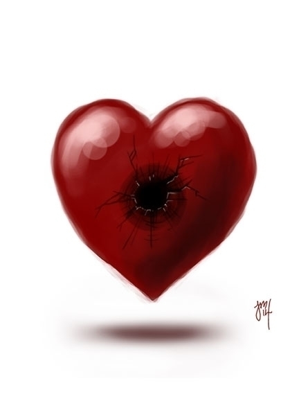 Quick digital doodle, Wounded H - jasonmartin-1263 | ello