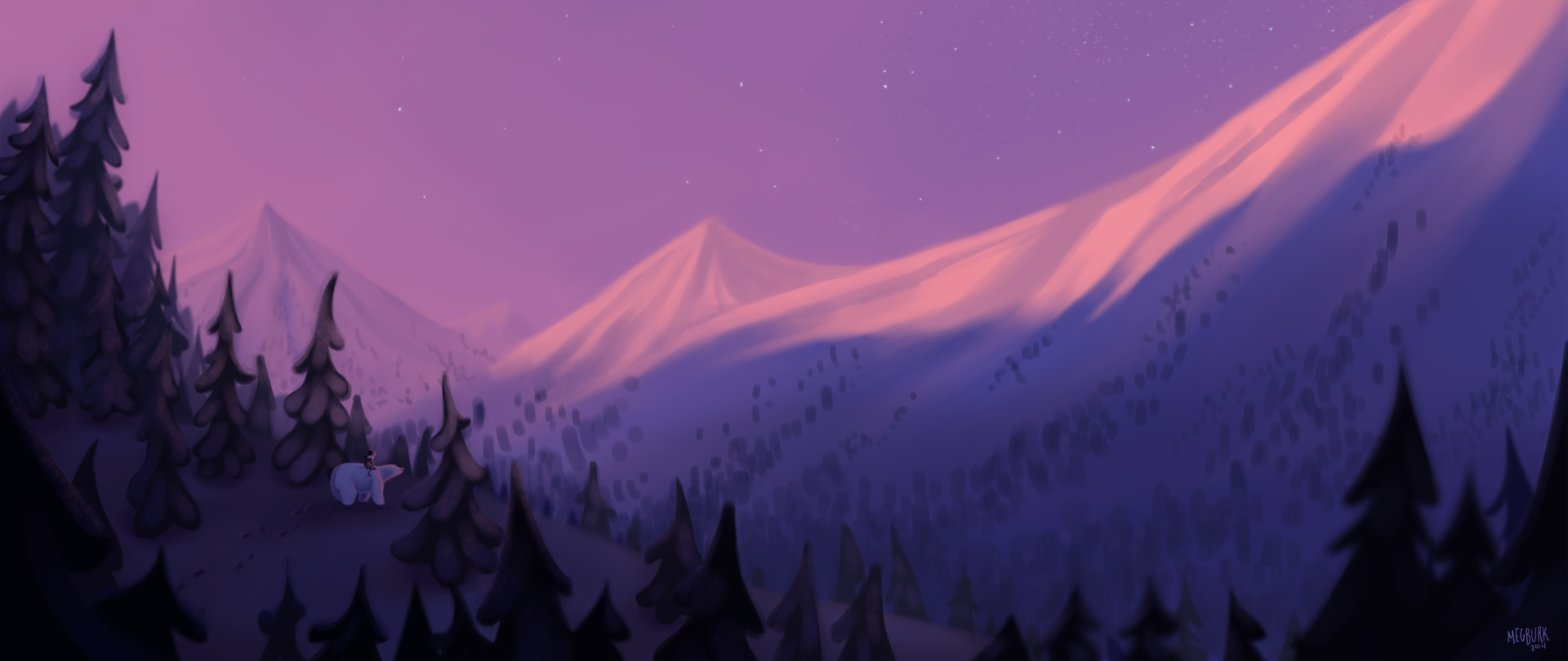 Sunset Mountains - Nanuk - megsketch | ello